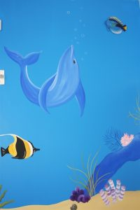 A Bright Future Pediatrics, Plano, Texas, Blue Whale Mural