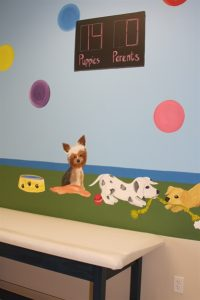 A Bright Future Pediatrics, Plano, Texas, Dogs Playing Mural