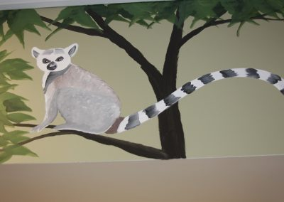 A Bright Future Pediatrics, Plano, Texas, Lemur Mural