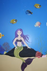 A Bright Future Pediatrics, Plano, Texas, Mermaid Mural