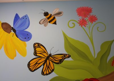 A Bright Future Pediatrics, Plano, Texas, Butterflies and Bees Mural
