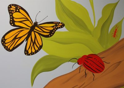 A Bright Future Pediatrics, Plano, Texas, Butterfly and Bug Mural