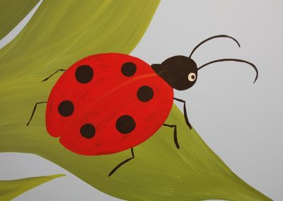 A Bright Future Pediatrics, Plano, Texas, Lady Bug Mural