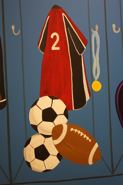 A Bright Future Pediatrics, Plano, Texas, Soccer and Football Mural