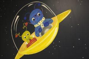 A Bright Future Pediatrics, Plano, Texas, Space Aliens Mural