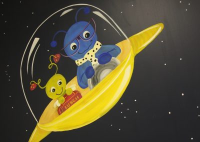 A Bright Future Pediatrics, Plano, Texas, Space Aliens Mural