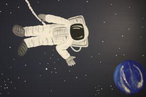 A Bright Future Pediatrics, Plano, Texas, Space Astronaut Mural