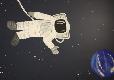 A Bright Future Pediatrics, Plano, Texas, Space Astronaut Mural