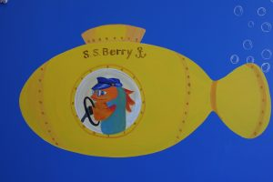 A Bright Future Pediatrics, Plano, Texas, S.S. Berry Yellow Submarine Mural