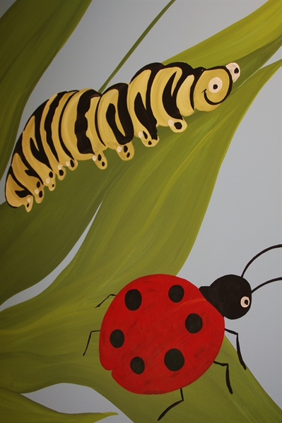 A Bright Future Pediatrics, Plano, Texas, Worm and Lady Bug Mural