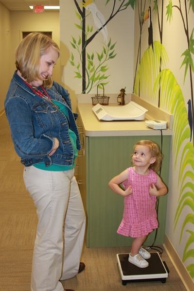 A Bright Future Pediatrics, Plano, Texas, Staff and Patient Posing