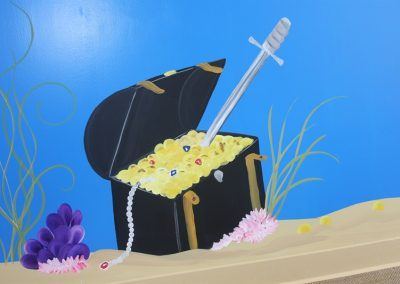 A Bright Future Pediatrics, Plano, Texas, Treasure Chest Mural
