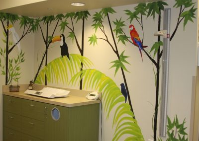 A Bright Future Pediatrics, Plano, Texas, Tropical Jungle Mural