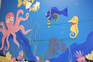 A Bright Future Pediatrics, Plano, Texas, Under the Sea Mural