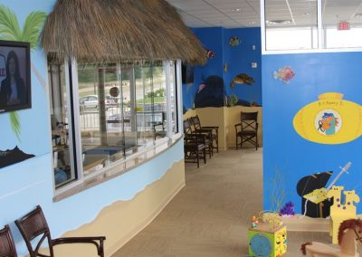 A Bright Future Pediatrics, Plano, Texas, Front Desk and Waiting Room